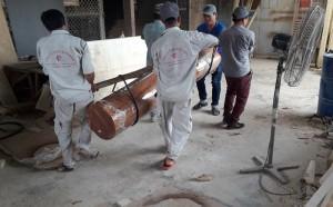 Đợt hàng thứ 2 của dự án Jjimjilbang The Pearl Hoi An đã được vận chuyển vào công trình