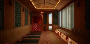 3D các phòng xông hơi sauna tại bãi biển Xuân Thiều, Đà Nẵng