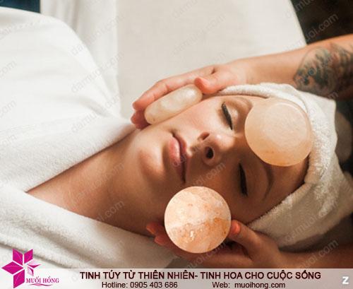 Đá muối massage hình cầu
