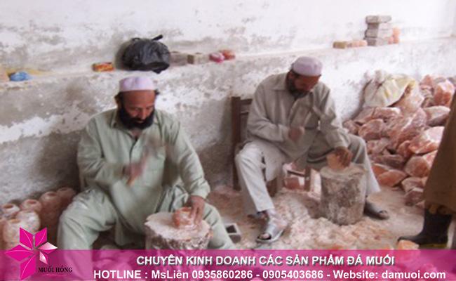 hình ảnh khai thác đá muối himalaya tại mỏ đá kherwa của pakistan 10