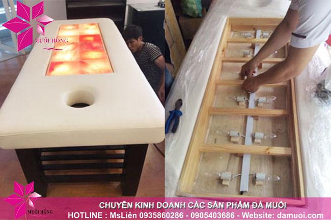 cung cấp giường đá muối chất lượng cho các spa 1