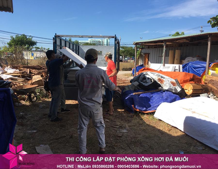 Đợt hàng thứ nhất của dự án jjimjilbang hội an đã nhập kho công trình 1