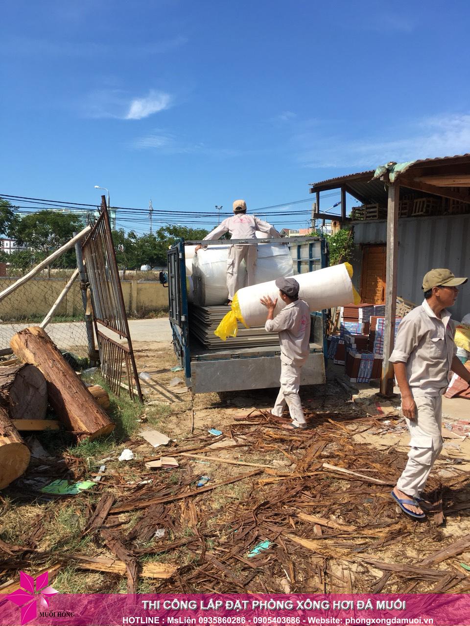 Đợt hàng thứ nhất của dự án jjimjilbang hội an đã nhập kho công trình 2