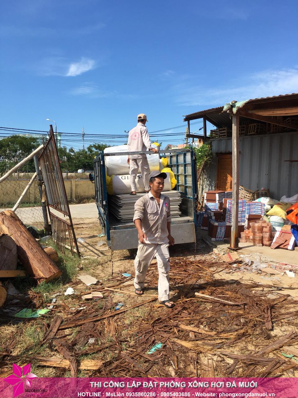 Đợt hàng thứ nhất của dự án jjimjilbang hội an đã nhập kho công trình 3