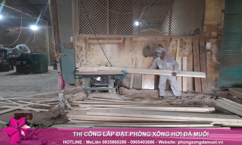 gấp rút chuẩn bị nguyên vật liệu trước khi triển khai dự án jjimjilbang the pearl hội an 3