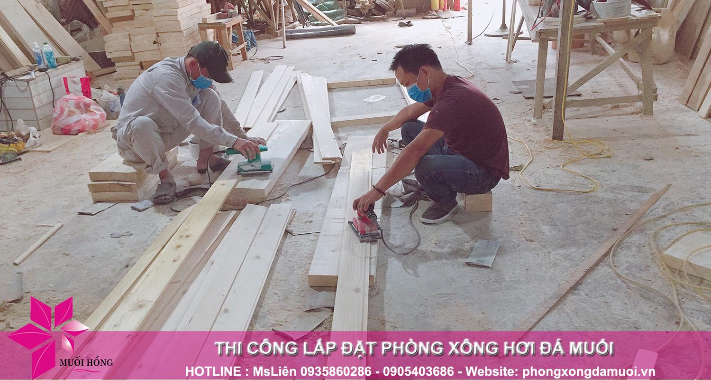 gấp rút chuẩn bị nguyên vật liệu trước khi triển khai dự án jjimjilbang the pearl hội an 4